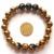 2017 1 PC Ouro Hematita Pedra Artesanal Dragão Ágata Tibetano 6 Sílaba Mantra Beads Estiramento Pulseira Caixa de Presente