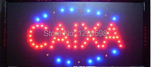 2017 dircet selling custom manufacture 10x19 Inch Semi-outdoor Ultra Bright running caixa led open sign