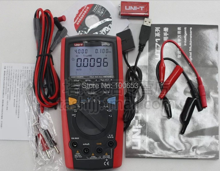 UNI-T UT71D Digital Volt Amp Ohm Capacitance meter thermometer with USB Temperature digital multimeter True-RMS data logger  цены