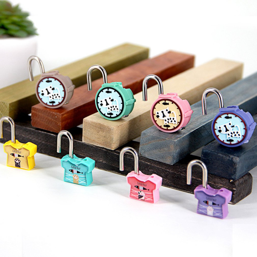 Mini Lock Novelty Padlock Security Lock Cute Animal Cartoon Lock With Keys For Backpacks & Lockers Doors And Windows Suitcase