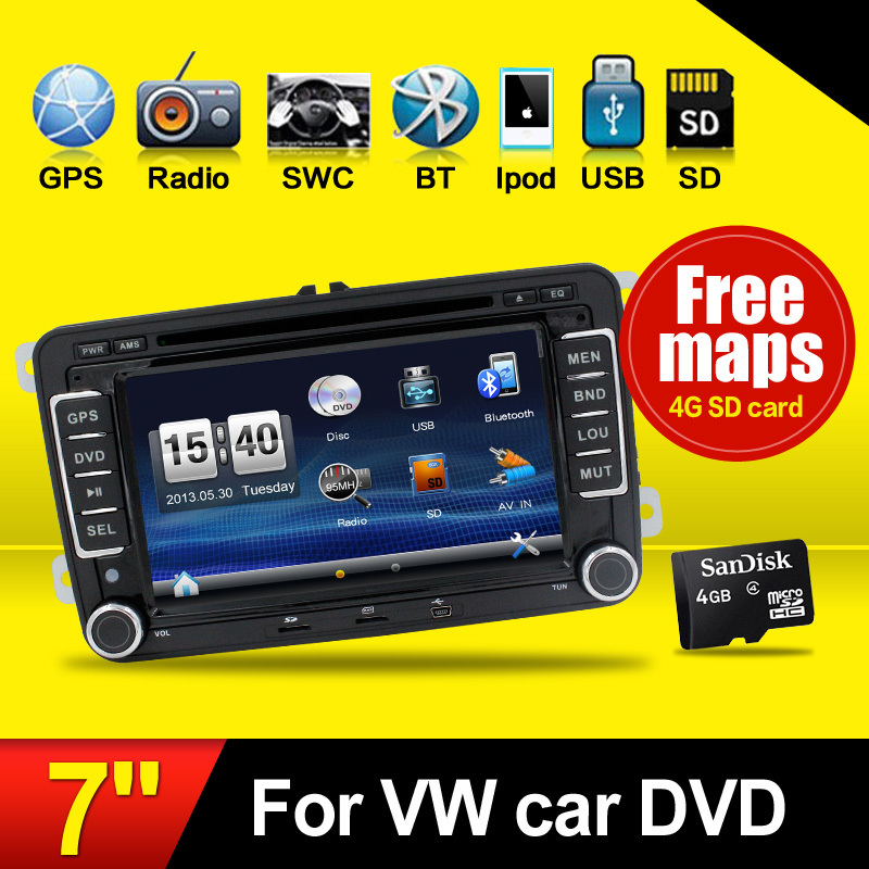 Hot! 2Din GPS Navi Car DVD Playe VW TIGUAN GOLF POLO PASSAT JETTA TOURAN CADDY WITH USB/SD HD TV Radio car pc - juguar Store store