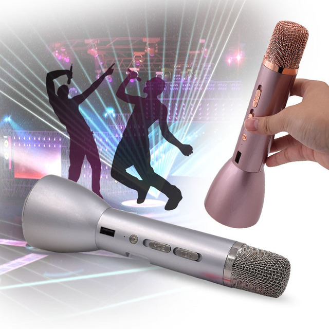 Mini Portable Handheld Wireless Bluetooth Karaoke Player Microphone Speaker KTV Effect Home USB Rechargeable TH508-TH510-8