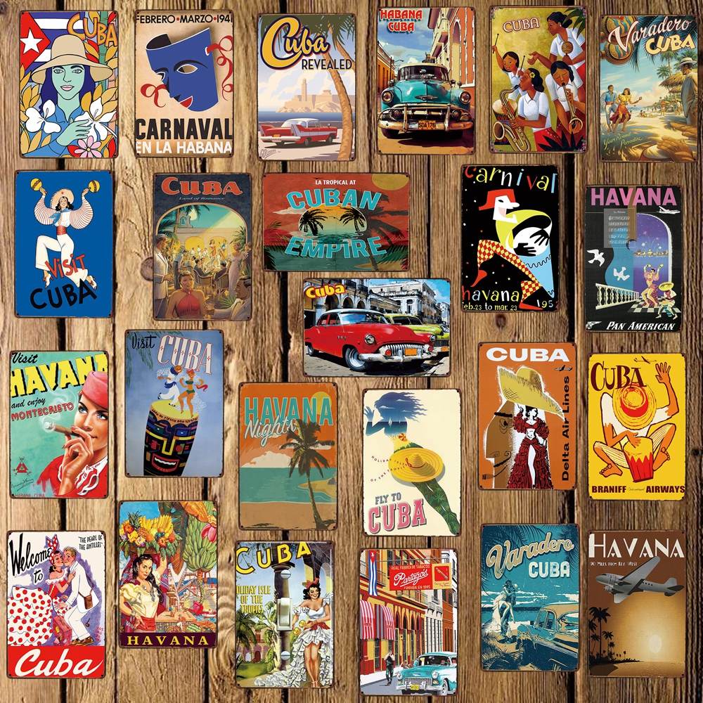 [ Mike86 ] CUBA HAVANA Metal Sign Room Decor Vintage Wall Plaque Painting Craft For Pub Home 20*30 CM FG-220