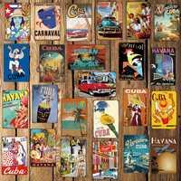 [ Mike86 ] CUBA HAVANA Metal Sign Room Decor Vintage Wall Plaque Painting Craft For Pub Home 20*30 CM FG-220