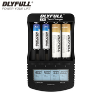 18650 Charger DLYFULL T4 LCD NiCd NiMh Li Ion 18650 Vape Battery For AA AAA 123A