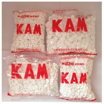 1000set/BOX Brand NEW KAM White Black T5 Resin Plastic Snap Fastener Buttons