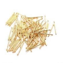 цена на PA75-Q2 Spring Test Probe Durable Metal Brass Test Probe Spring Pin Length 16.5mm Convenient Home Lnspection Tool 100 / PCS
