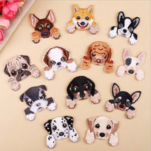DOUBLEHEE Many Animal Dog Patch Embroidered Patches For Clothing Iron On Close Shoes Bags Badges Embroidery