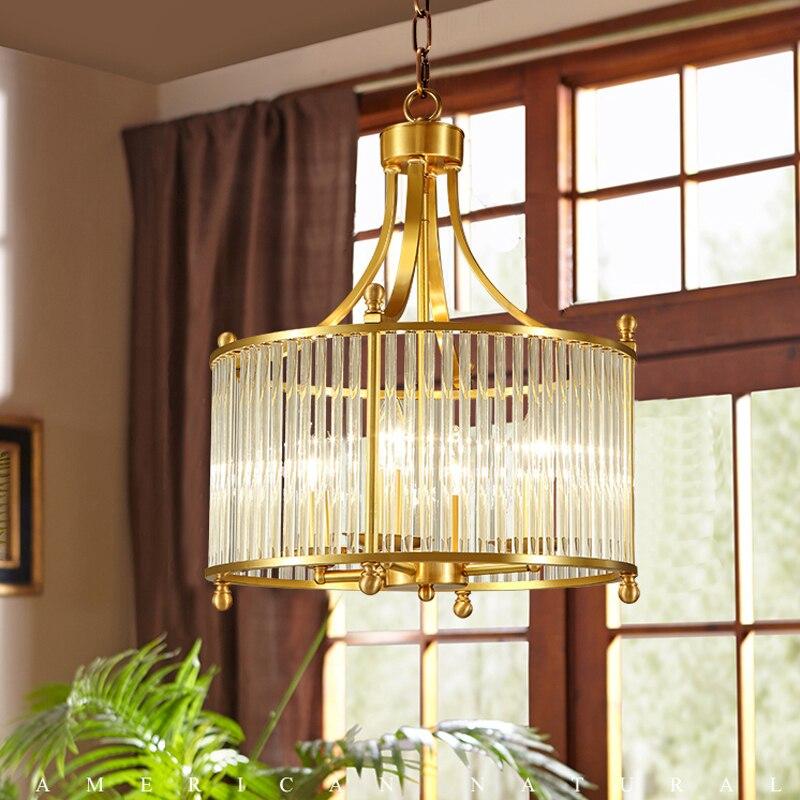 American pendant lamp garden copper living room pendant light LED restaurant warm crystal personality ZA626 ZL156 pendant light living room lamps restaurant lamp american style copper brief pendant light