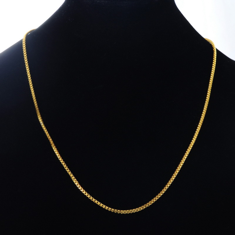 2*1PC Stainless Steel Necklace Box Chain gold color New Fashion