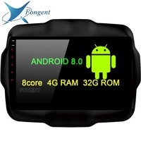 TDA7851 4*50W Android 8.0 4GB+32GB+8core Car DVD Player GPS Glonass map RDS Radio wifi Bluetooth TV For Jeep Renegade 2016 2017
