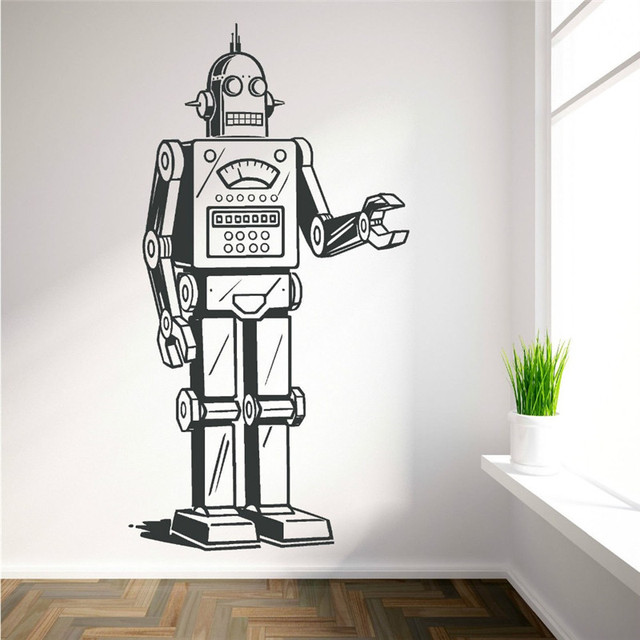 robot vinyl wall art sticker decal boys bedroom childrens room