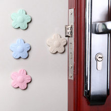 Cherry Blossoms Door Rear Wall Anti Collision Mat Anti Touch Safety Door Handle Wall Protection Cushion Shock Pad Gate For kids(China)