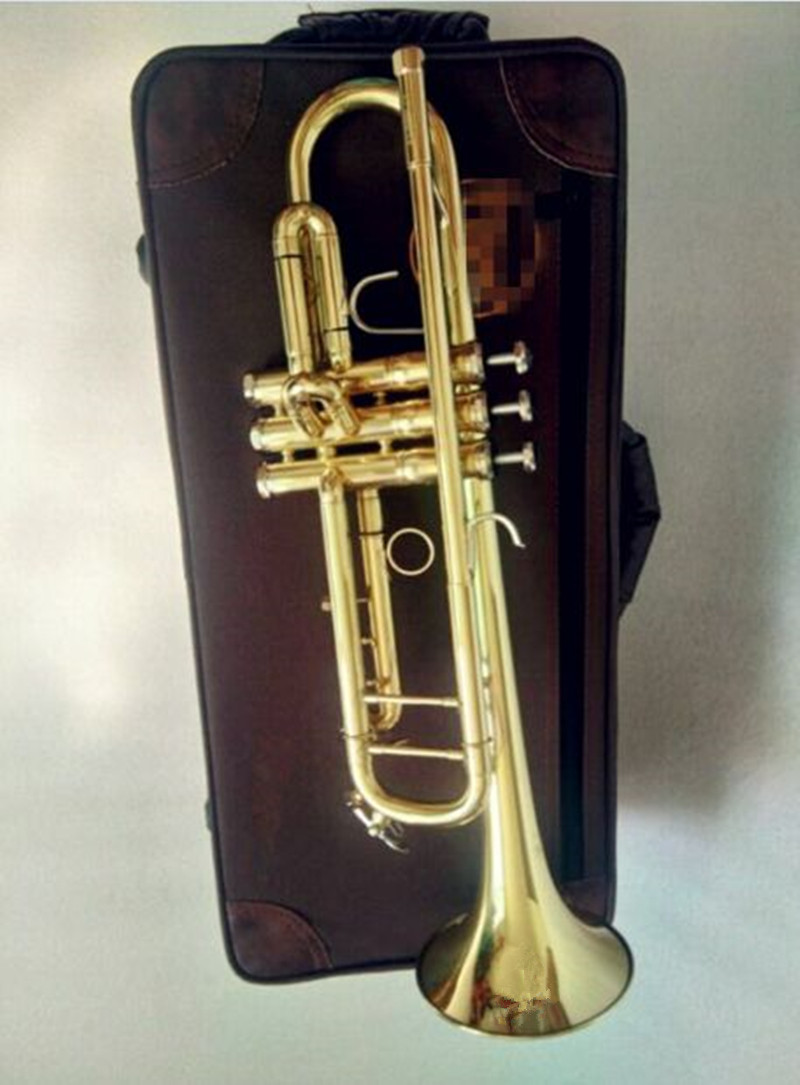 Bach Trumpet Bb LT180S-72 Model Number B Flat High-quality Yellow Brass Gold-painted Professional level musical instrument цена