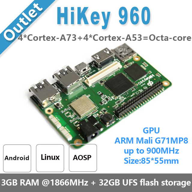 HiKey960 Single Board Computer - 96Boards demo board Development Platform (4GB LPDDR4 & 32GB eMMC ) hikey with AOSP & Linux