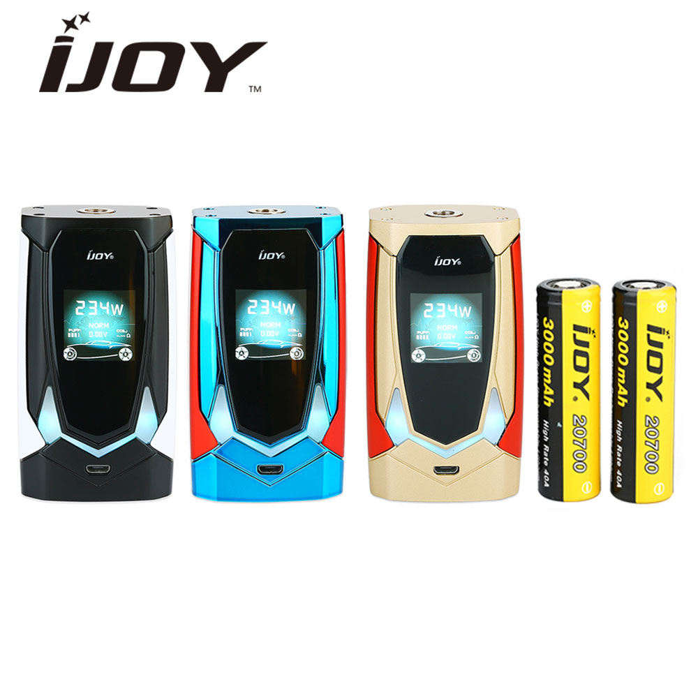 Clearance Original IJOY Avenger 270 234W English Voice Control Box MOD 6000mAh Battery with Dual 20700 Batteries Vape E-cig Mod authentic 215w ijoy limitless lux dual 26650 battery 8400mah big capacity mod e cig fit limitless rdta plus limitless lux