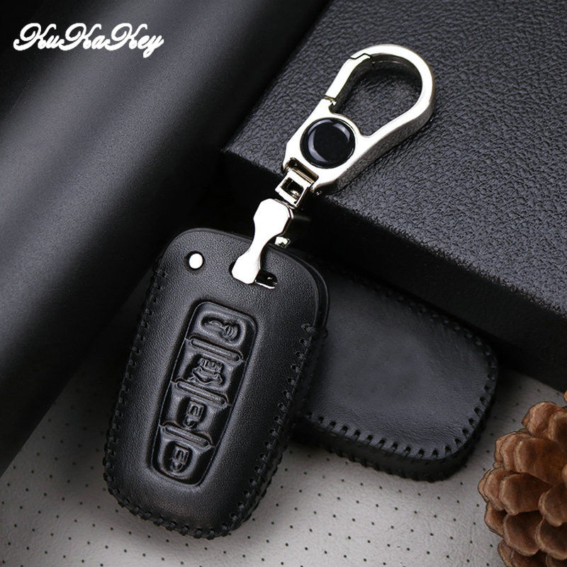 KUKAKEY Leather Car Key Cover Case For Kia Chi Ran K2 Furui Di k5 For Hyundai Long Move IX35 Sonata 8 Case Styling Accessories in Key Case for Car from Automobiles Motorcycles