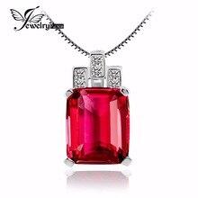 Jewelrypalace Lujo Emerald Cut 9.5ct Creado Rubíes Rojo 925 Colgante De Plata de Alta Calidad de La Vendimia Colgante Sin Cadena