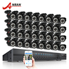 ANRAN 32CH Security System AHD 1080N HDMI DVR Kit 32pcs 720P 1800TVL IR Night Vison Bullet