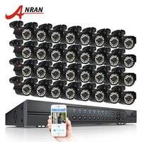 Anran 32CH безопасности Системы AHD 1080N HDMI DVR Kit 32 шт. 720 P 1800TVL ИК ночного Vison Пуля Открытый AHD видео Камеры скрытого видеонаблюдения