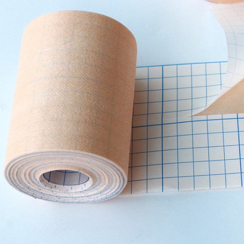 2 Roll Adhesive Wound Dressing Bandage Medical Fixation Tape Bandage Breathable Spunlace Non-woven Fabric Anti-allergic