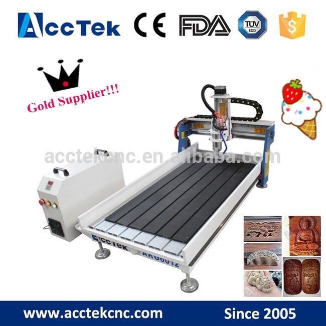 Machine à bois de broderie de tour d'approvisionnement d'usine 600*1200 pour l'aluminium acrylique de PVC en plastique de contreplaqué