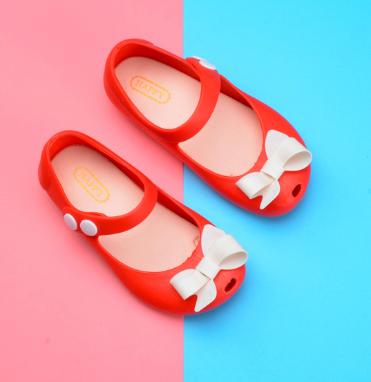 Melissa New Mini Girls Sandals Butterfly Jelly Shoes Butterfly Knot Shoes Crystal Jelly Sandals Children Shoes Fish Head Shoes