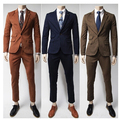 (Jacket+Pants) Free Shipping 2017 New Arrival Formal Wedding Men Suits Fashion Casual Brand Terno Masculino Blazer Suits For Men