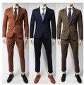 (Jaqueta + Calça) frete Grátis 2017 New Arrival Moda Casual Da Marca Dos Homens Do Casamento Ternos Formais Terno Masculino Ternos Blazer Para Os Homens