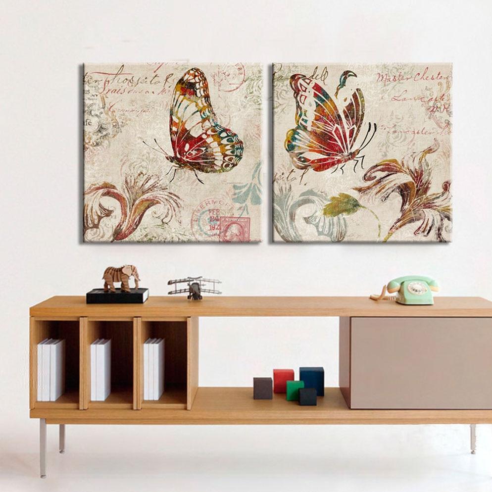 цуадрос платно лептира уметничка - Кућни декор - Фотографија 4