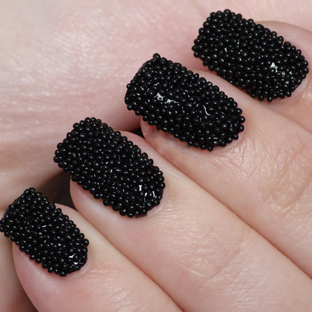 image - Online Shop 10g/box New Nail Design Nail Beads Studs Black Color