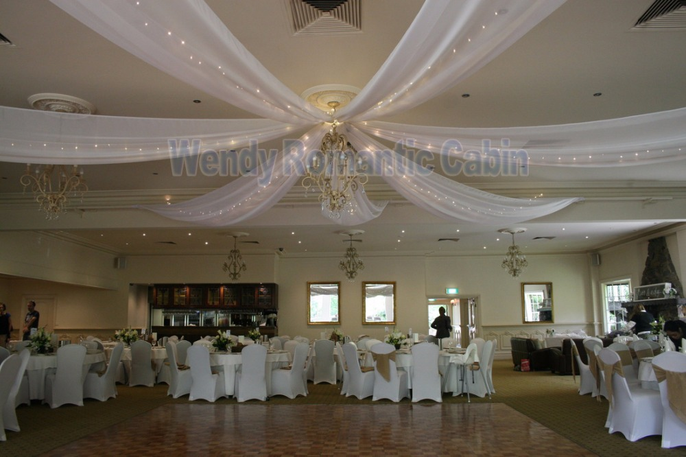 8 Pieces Wedding Ceiling Drape Canopy Drapery For