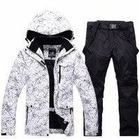 SAENSHING Mountain Лыжный Спорт костюм для Для мужчин Водонепроницаемый дышащий лыжная куртка брюки мужские зимние уличные лыжный костюм Сноуборд