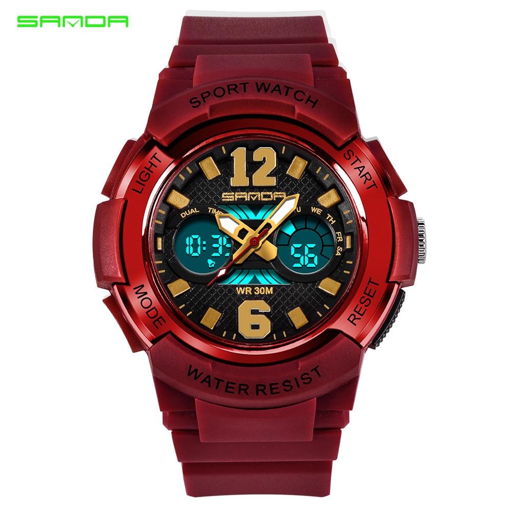 Sanda watch luminous waterproof alarm clock sports cartoon jelly children's electronic watch,children watches for boys