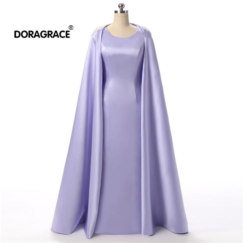 Doragrace Mode Drapieren Zwei Stück Watteau Zug Einfache Wunderschöne Abendkleid Formale Party Kleider