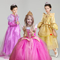 Europe and the United States foreign trade sleeping beauty princess aurora ice colors dress new Christmas Cosplay horn sleeve