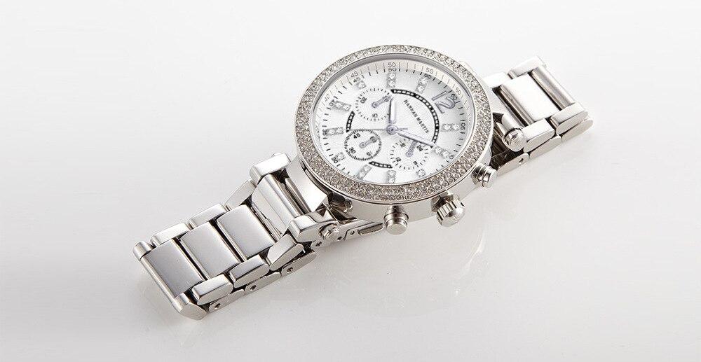 Hannah martin moda feminina pulseira relógio de