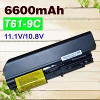 6600mAh Battery for IBM lenovo ThinkPad R400 T400 R61 T61 T400 R61i 42T4533 42T5265 42T4530 42T4532 42T4548 42T4645 42T5262