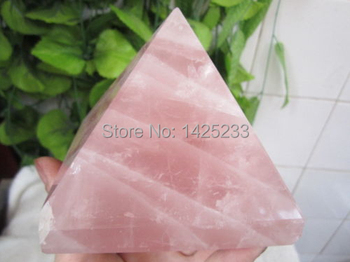 900g natural rose quartz crystal pyramid point healing