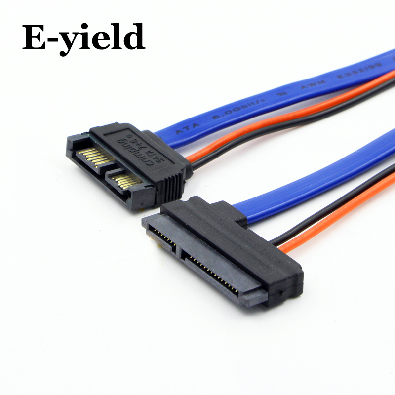 E-yield SATA Cable Serial ATA 22Pin 7+15 Female to Slimline SATA 13Pin 7+6 Male Connector Converter стол бештау диез т4 с 345 венге стекло с рисунком
