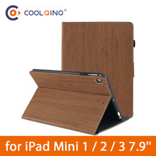 Wood Grain Tablets Case For iPad Mini 1/2/3 7.9 Smart TPU Soft Tablet Case Pattern Protective Cover For iPad Mini Case Min 1 2 3 недорого