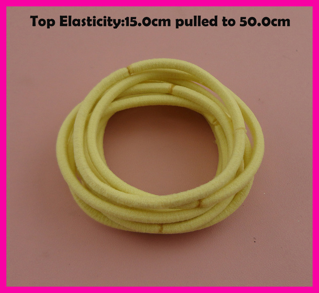 113PCS 13mm Top Elasticity Pastel Yellow Elastic Ponytail Holders ...
