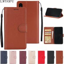 Flip cover PU leather wallet for Huawei P8 P9 P20 P10 Lite bracket back P30 Pro phone case