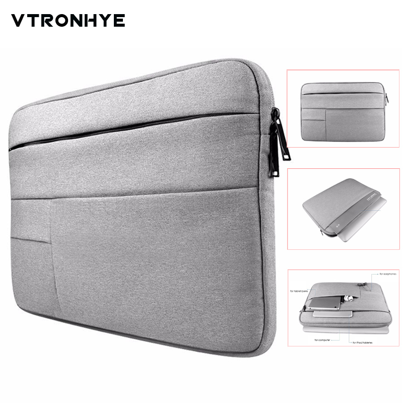 11 12 13 14 15 15.6 inch Soft lining fluff Shockproof Laptop Cover Computer Bag