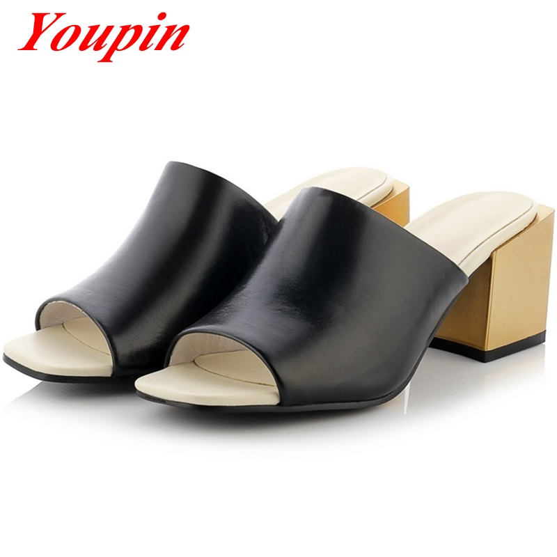 2016 Daily home fashion sandals Genuine Leather With party Hot New Products Roman style large size