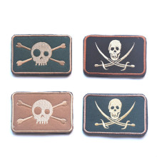 GUGUTREE embroidery HOOK&LOOP skull Patch pirate patches badges applique for clothing AD-404