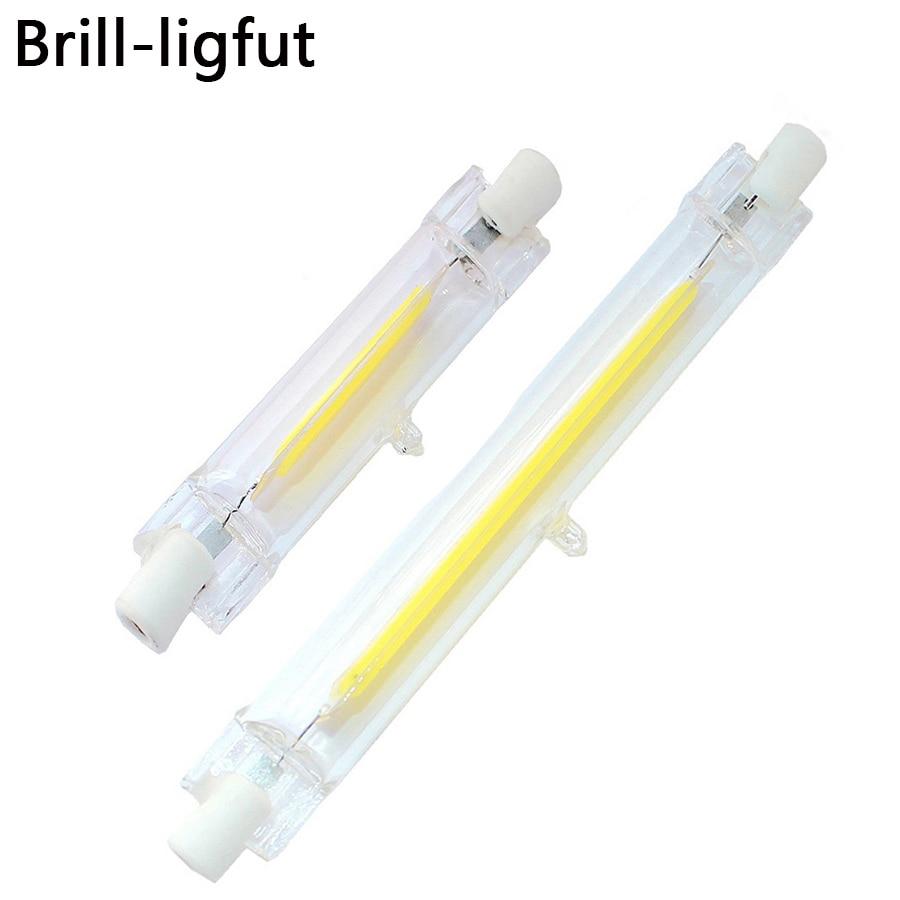 LED R7S 78mm 118mm Dimmable COB lampe ampoule Tube de verre 4 W 10 W AC 220 V 230 V R7S projecteur remplacer halogène lampe lumière économie d'énergie