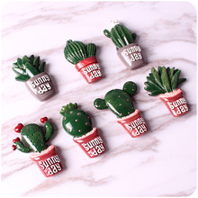 2PCS Creative Cactus Plants Fridge Magnets Kawaii Cute Decorative Refrigerator Souvenir Magnetic Sticker YYJ0