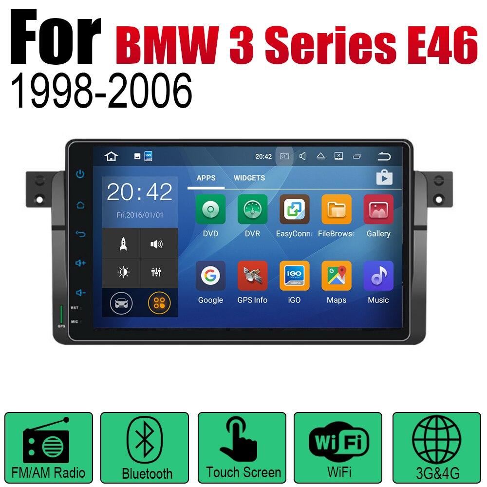 מערכת ניווט GPS אנדרואיד רכב DVD GPS Navi עבור BMW 3 Series E46 1998 ~ 2006 שחקן ניווט WiFi מערכת Bluetooth Mulitmedia stere אודיו (2)