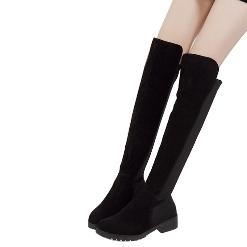 ФОТО Women Winter Boots Hot Sale Thigh-High Boots  Women Over The Knee High Boots 2015 Winter Warm Botas Mujer BT38